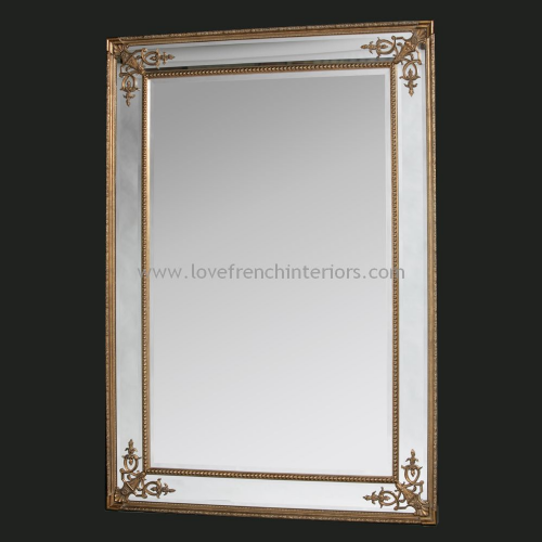 Gold French Large Mirror